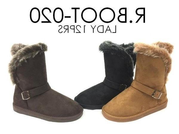 New Fashion Zipper Ankle Warm Fur Lined Shoes, Sizes:5-10
