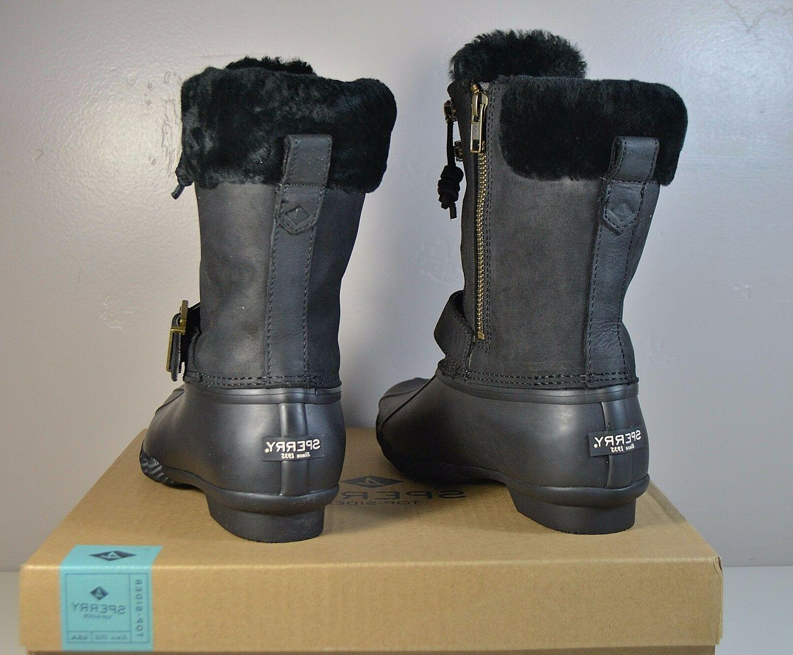NIB SIDER BLACK FUR DUCK SZ