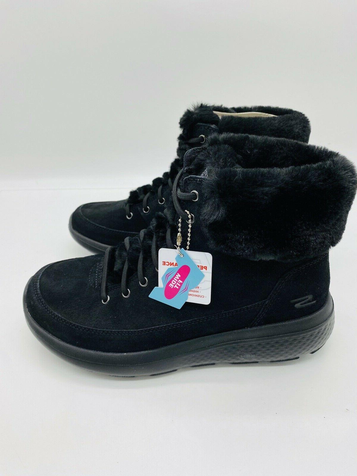 Skechers On-the-Go Chill Resistant Suede Boots Black