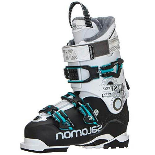 Salomon Quest Pro Cruise 90 W Womens Ski Boots 2019 24.5Black White Aqua Blue