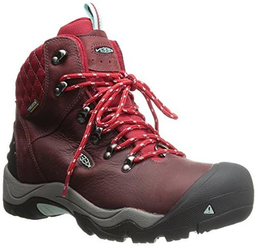 94e13a4357 KEEN Women's Revel III Winter Boot, Racing Red/Eggshell,