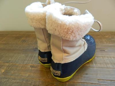 Sperry Top-Sider Leather Shearwater Boots womens 7 natural snow