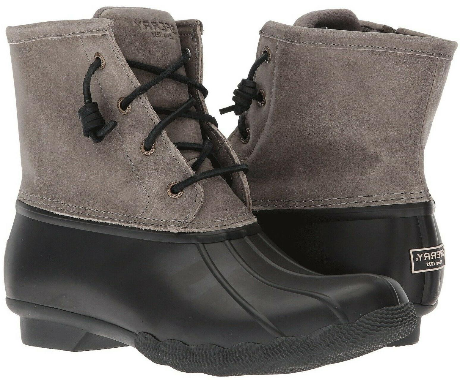 sperry top sider saltwater leather duck boots