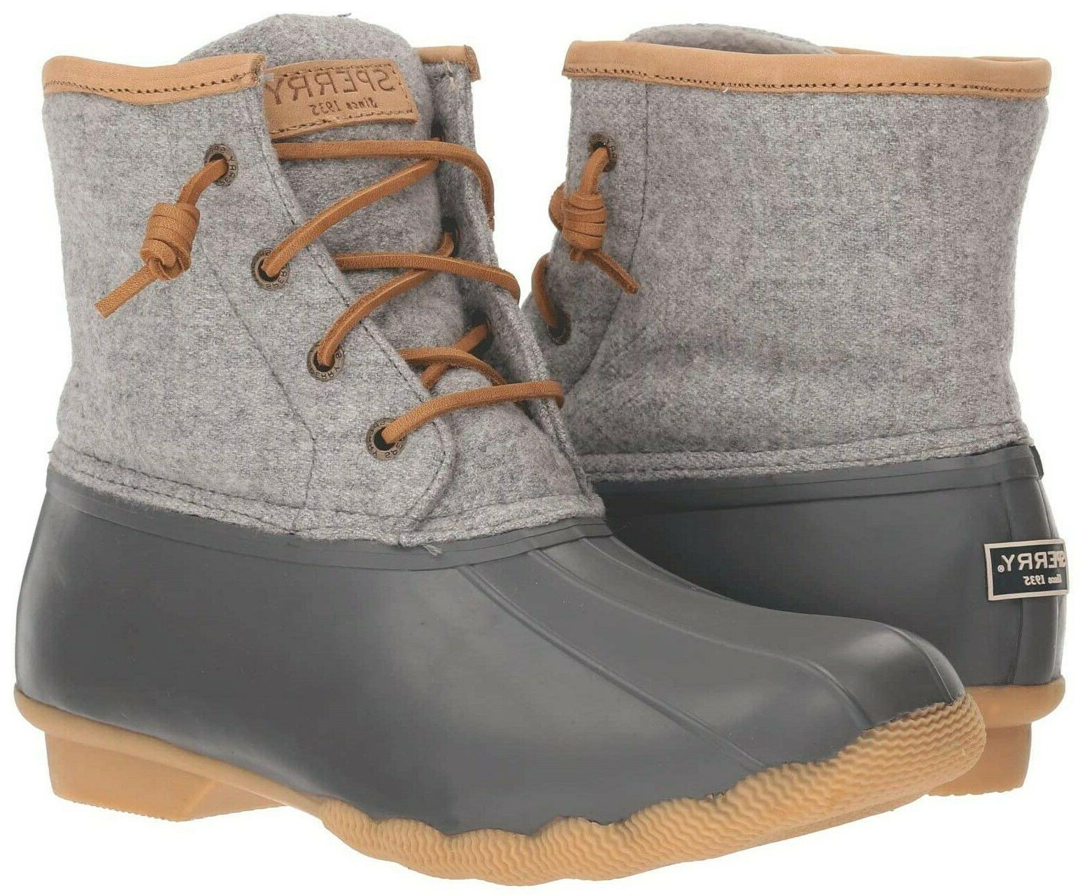 Sperry Top-Sider Saltwater Wool Duck Boots Winter Snow Rain