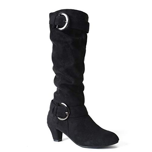suede riding boots for women slouchy knee
