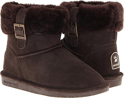trimmed winter ankle boot