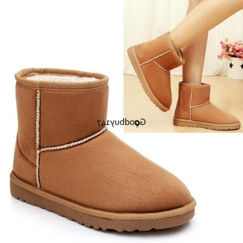 Unisex Boots Mens Mid Ankle Snow