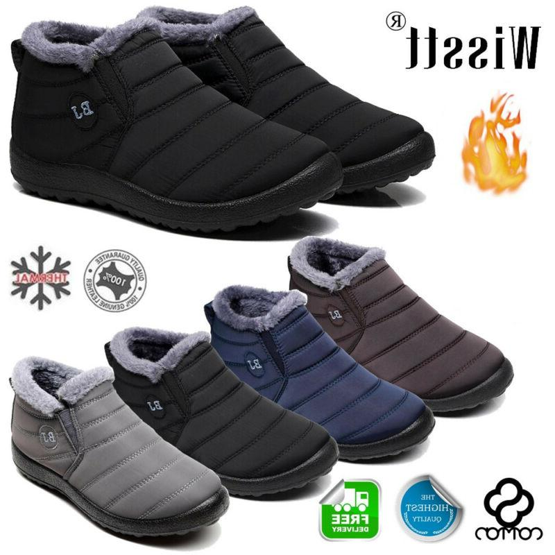us mens winter snow boots waterproof plush