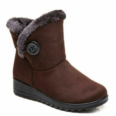 USA Winter Snow Boots Fur-lined On Warm Ankle Shoes Waterproof