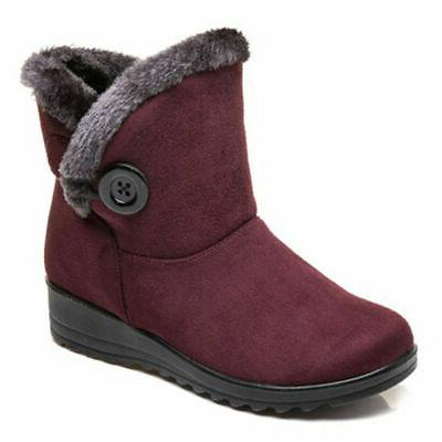 USA Women Snow Fur-lined Slip On Waterproof