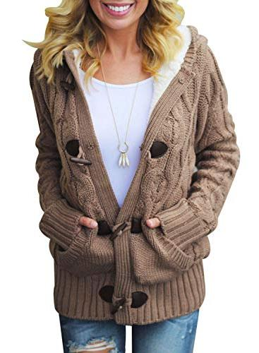 warm winter hooded casual cardigans