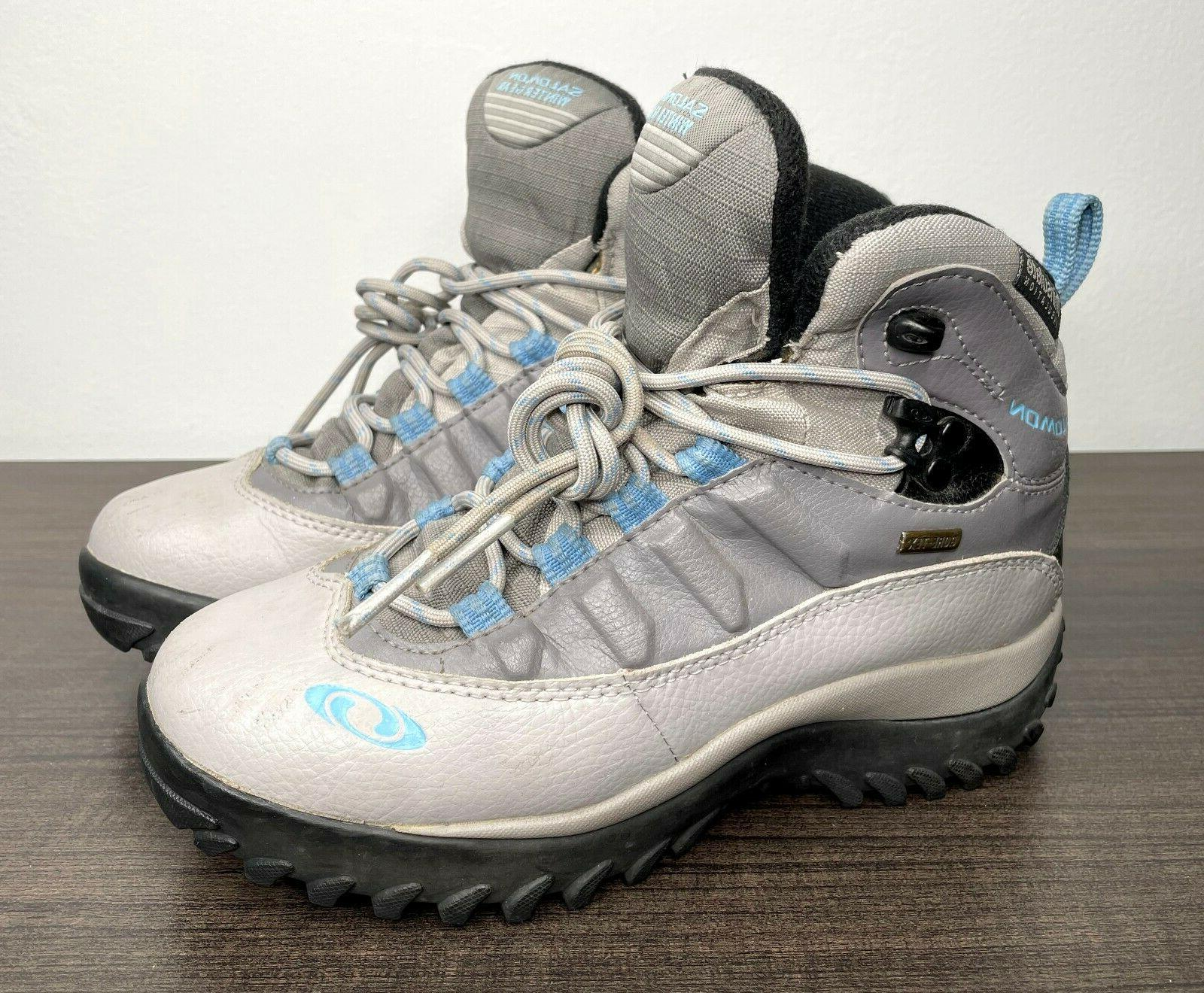waterproof leather winter thinsulate gray snow boots