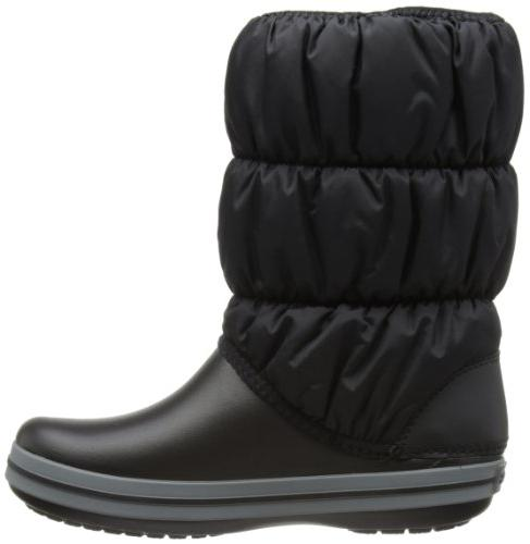 crocs Women's Winter Boot Snow Black/Charcoal, 7 M