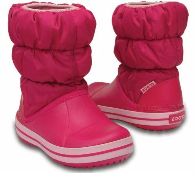 winter puff boots girls candy pink 11