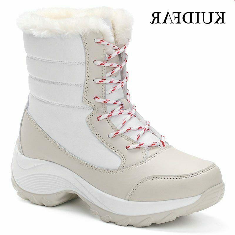 Women Ankle Boots Winter Boots Water Shoes Ladies Lined