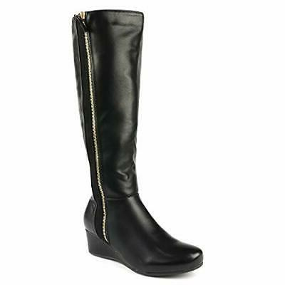 women consta low wedge knee high winter