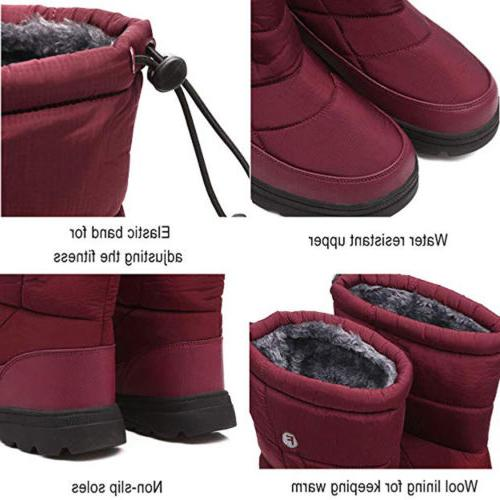 Women Size Snow Warm Fur Waterproof Boot