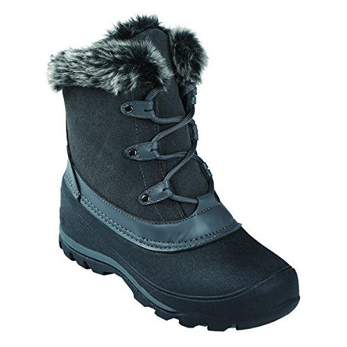 women s fairfield snow boot charcoal orange