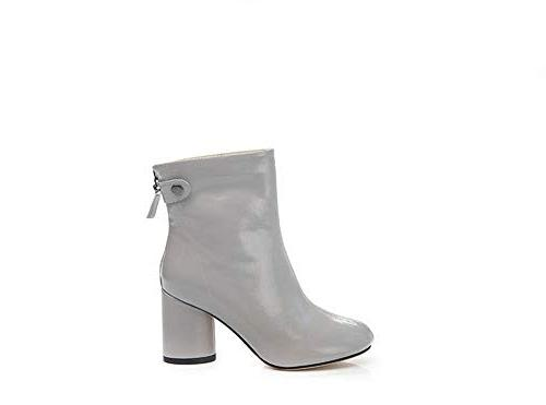 women s faux leather chunky ankle boot