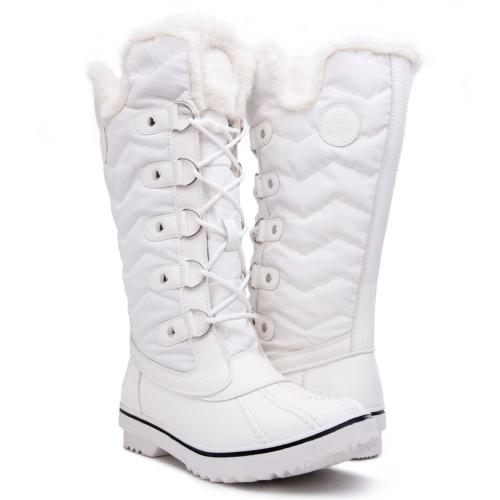 Kingshow Women's Globalwin White Waterproof Winter Boots - 7