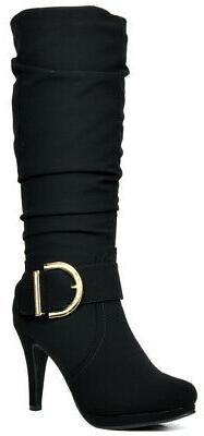 DREAM PAIRS Women's New Soft faux fur lining Knee High High