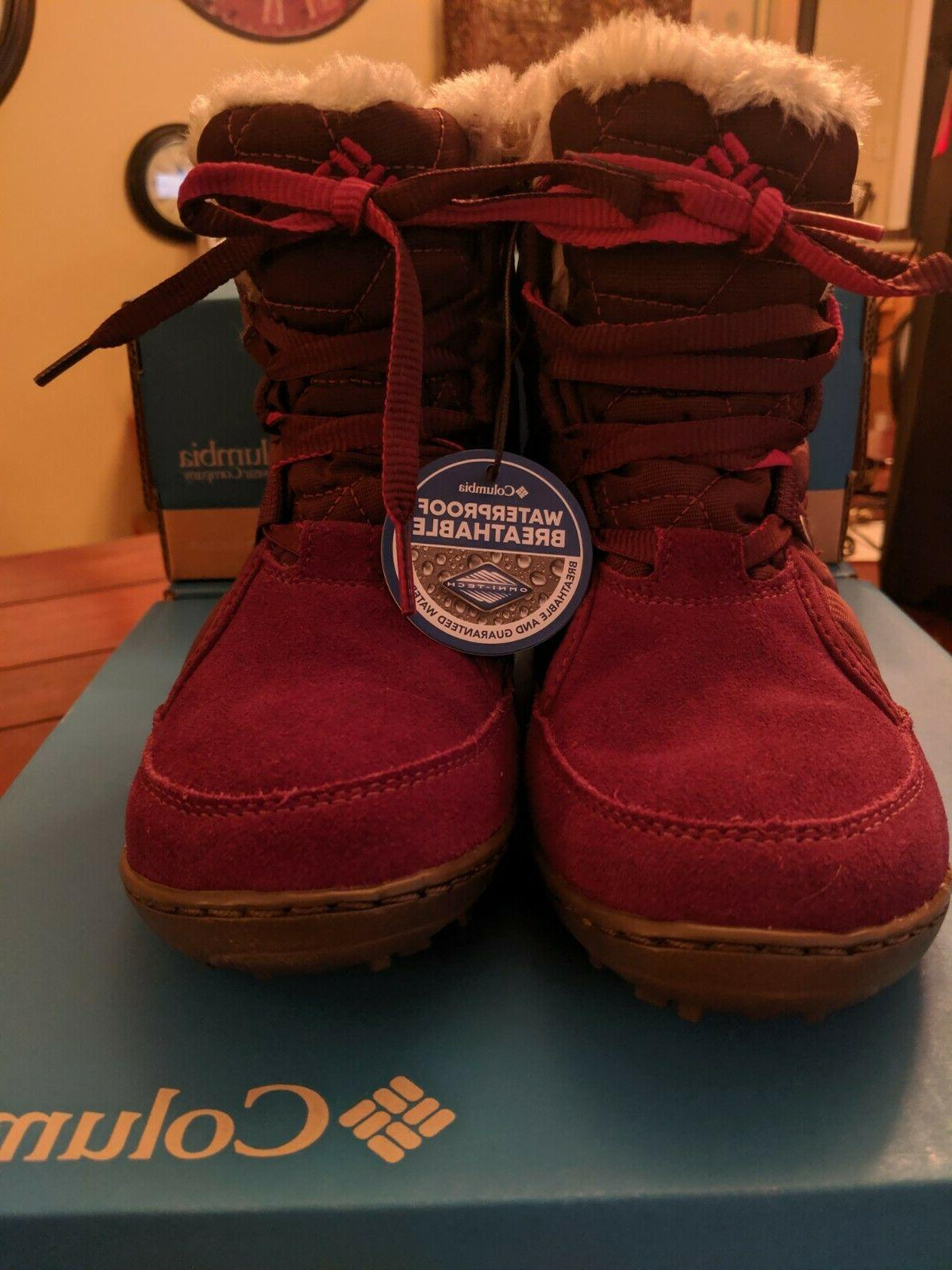 Women's Columbia Powder Shorty Boots, Size 6, New in Box