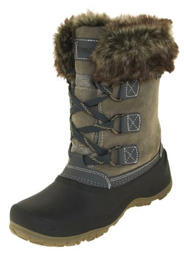 women s slope winter boots grey