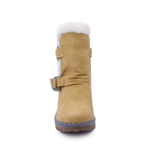 Women's Winter Leather Fur Warm Waterproof Ski USA