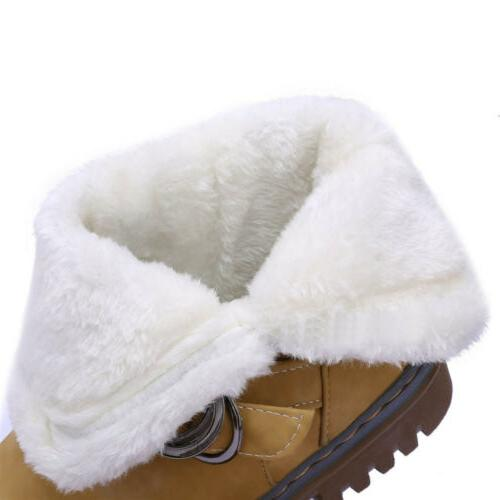 Women's Snow Ankle Winter Leather Fur Warm