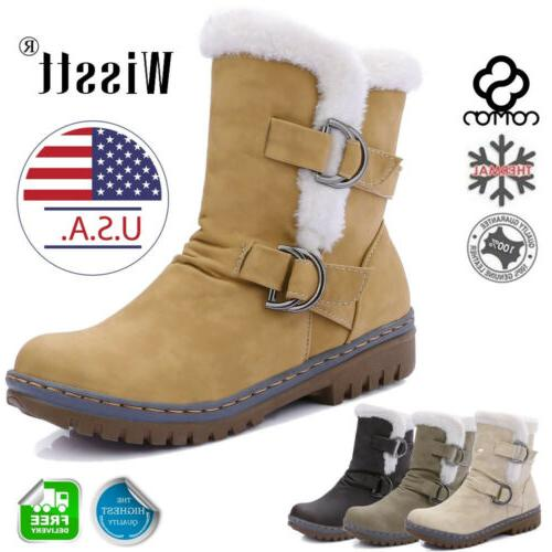 women s snow ankle boots winter leather
