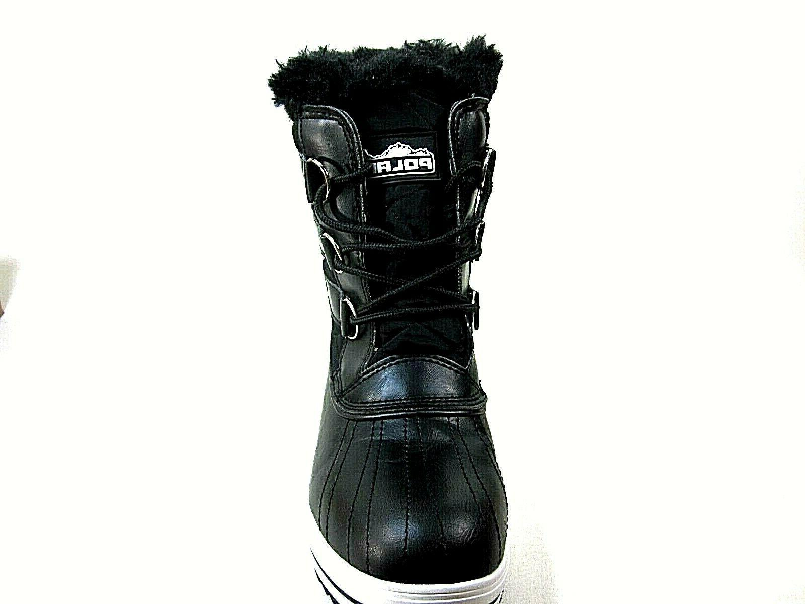 Polar Products Snow Boot Rain Black Boots,US 10,New