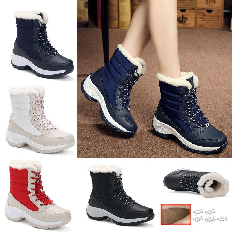 Snow Boots Winter Velvet High-top Women's Shoes Waterproof Tide