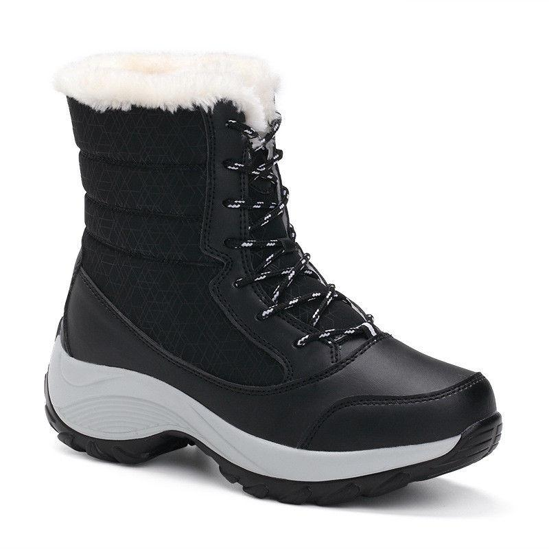 Snow Boots Velvet High-top Women's Waterproof Women's Tide