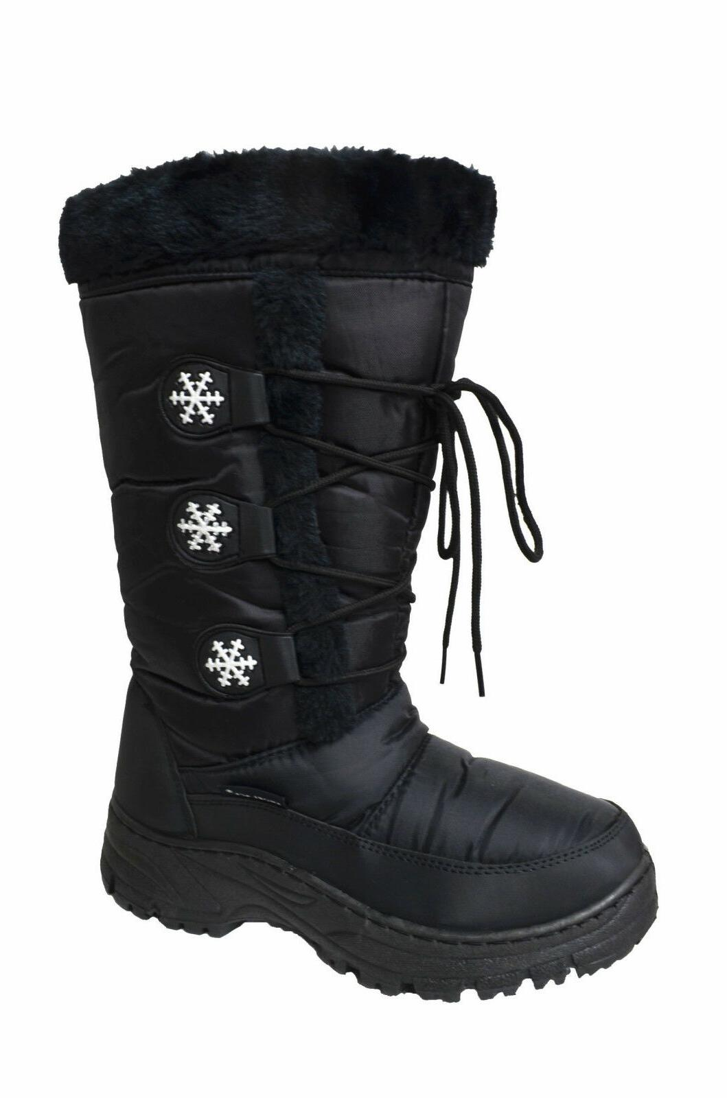Women's Water Resistant Insulated Winter Snow Boots Fleece L
