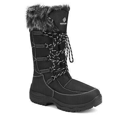 DREAM PAIRS Faux Lined Mid Calf Zipper Boots
