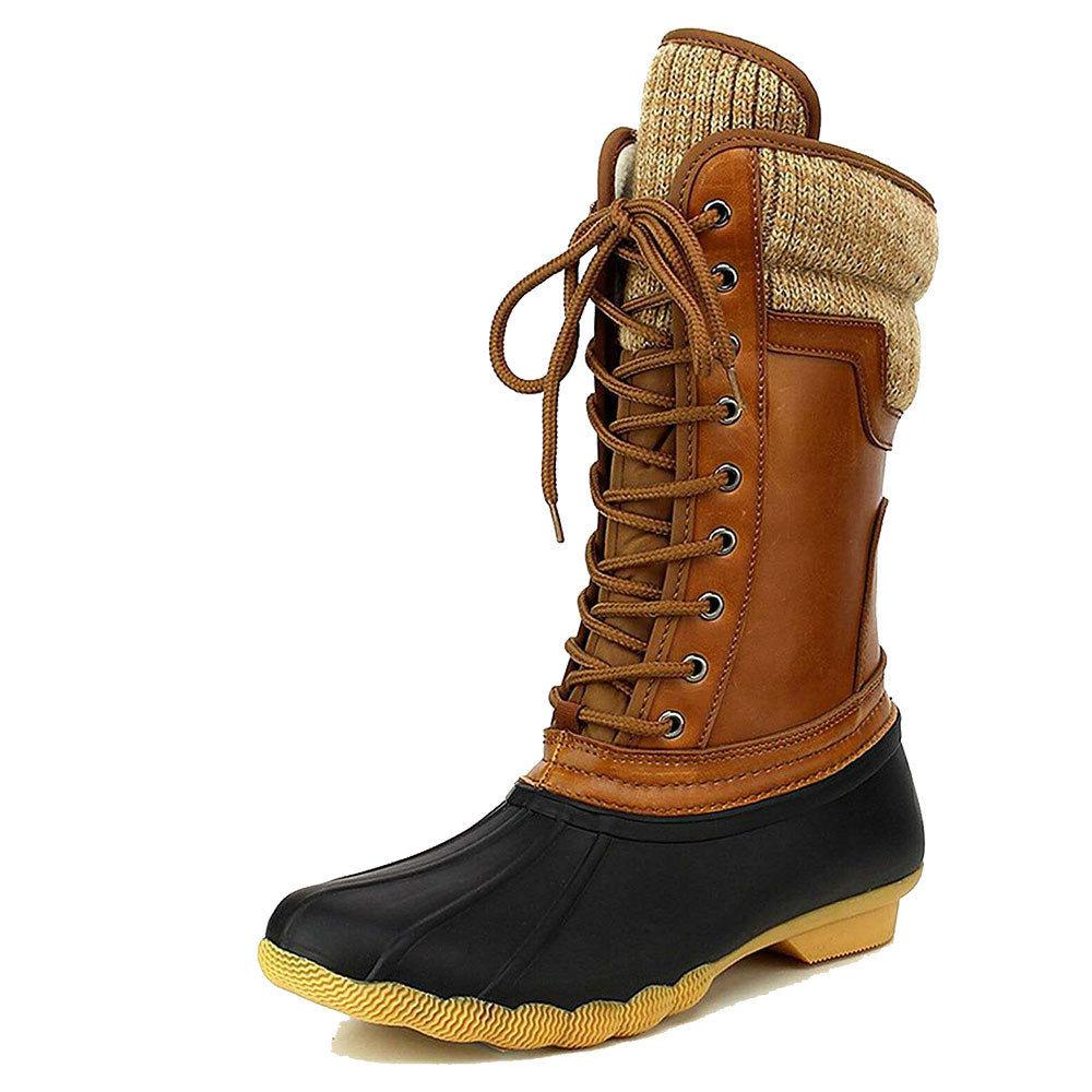 Women's Rubber Duck Winter Snow Mid Calf Boots