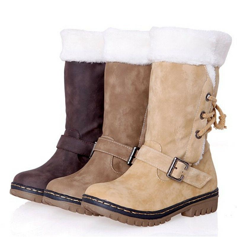 Womens Winter Buckle Snow Size