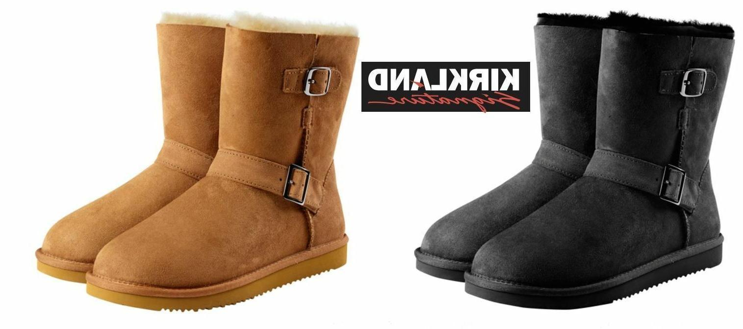 women s winter shearling buckle boots various