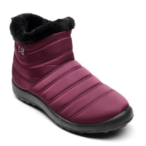 Women Waterproof Boots Shoes Slip Casual