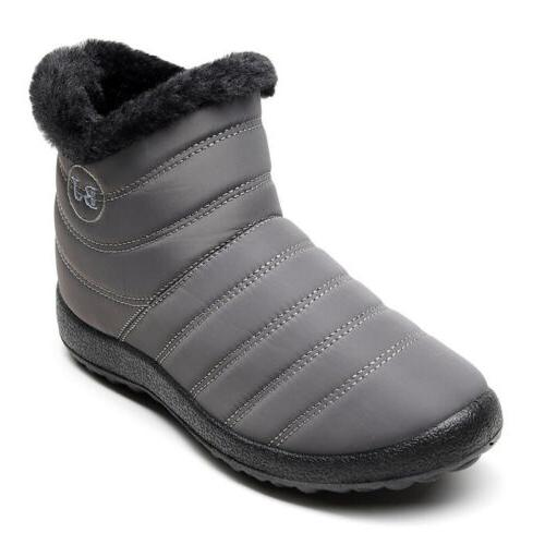 Women Winter Snow Boots Ladies Lined Shoes On Warm Casual US