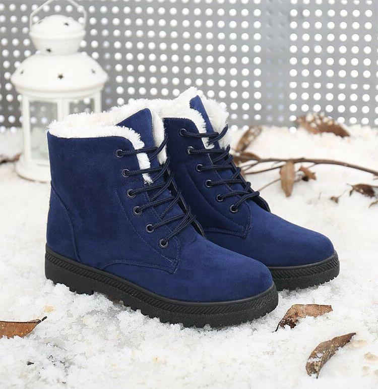Women Winter Boots Fur Snow Boots Shoes