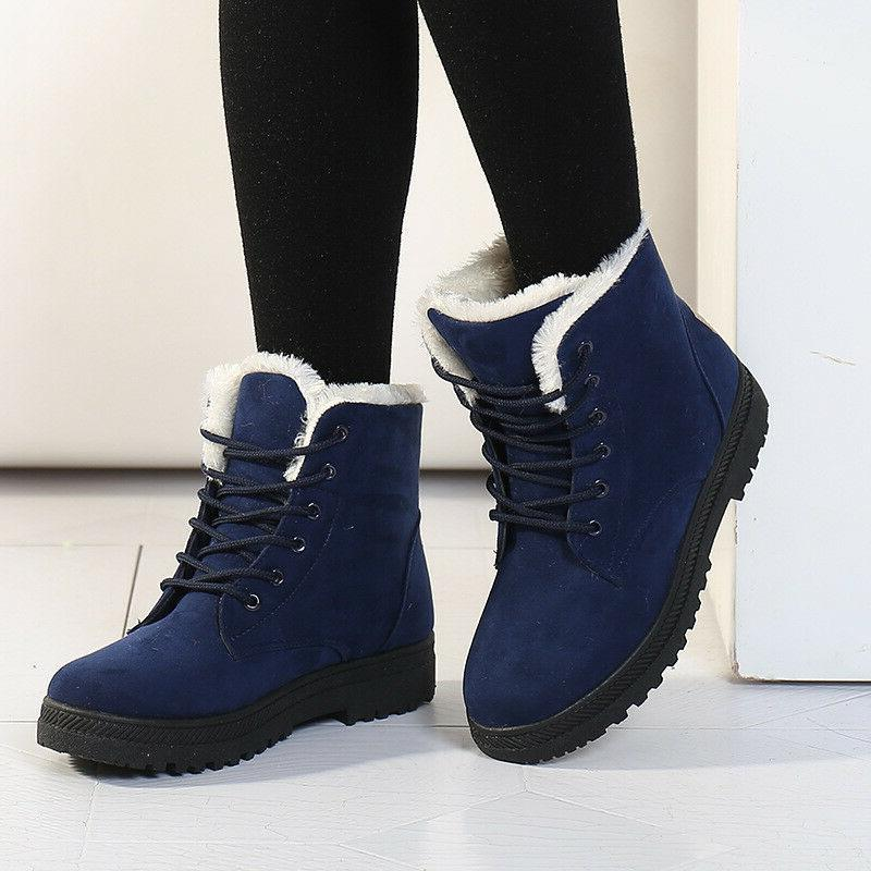 Women Suede Boots Up Outdoor Fur Boots Shoes