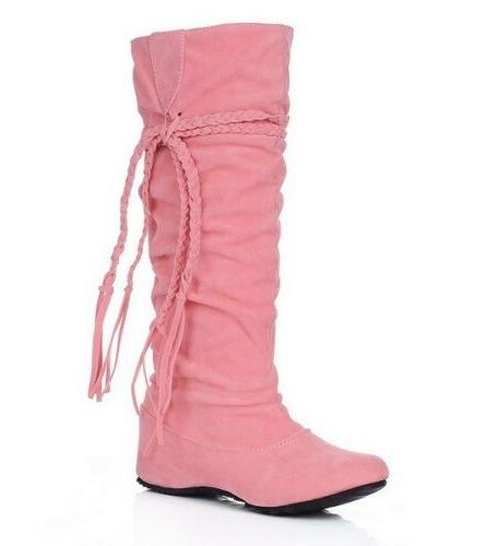 Women Winter Warm Snow Boots Suede Boots Flat