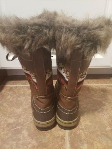 NORTHSIDE WOMENS SNOW WINTER BOOTS, FUR. Size