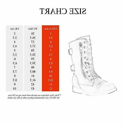 DREAM PAIRS Motorcycle Boots Zip Mid Boots