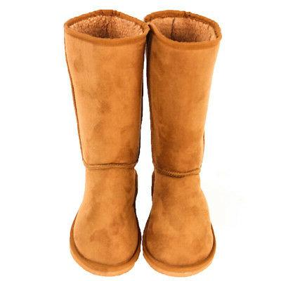 Womens Sheepskin Suede Tall Classic Warm