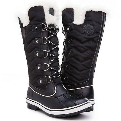 Kingshow Women's Globalwin Waterproof Winter Boots Black17