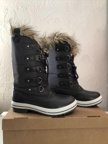 womens lace up rubber sole tall winter