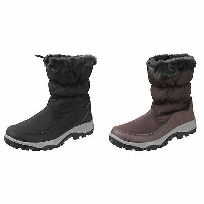 womens ladies frost pull on fur trim