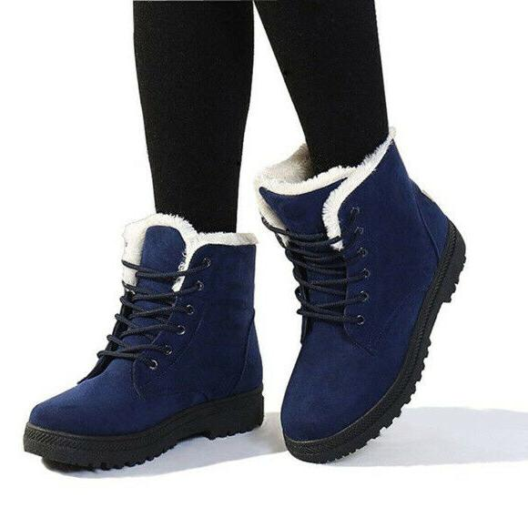 womens size 6 boots blue suede snow